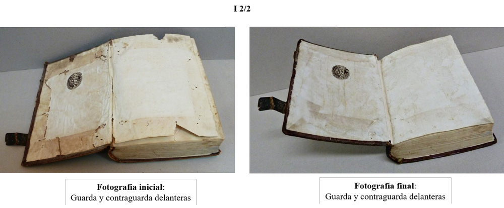 proceso restauracion y encuadernacion artesanal guardas